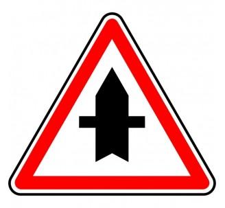 """Kit ou Panneau seul type routier """"Intersection à caractère prioritaire"""" ref:AB2"""