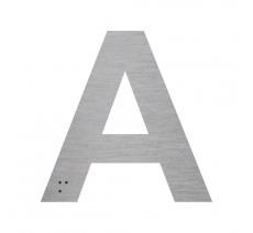 """Lettre """"A"""" + braille en aluminium découpé 100mm ou 150mm de haut"""