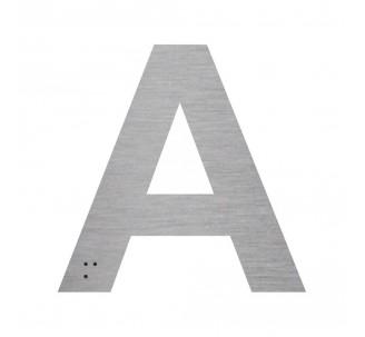 """Lettre """"A"""" + braille en aluminium découpé"""