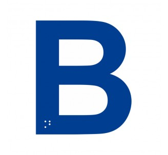 """Lettre """"B"""" + braille en aluminium découpé"""