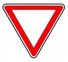 """Panneau type routier """"Cédez le passage""""  ref:AB3a"""