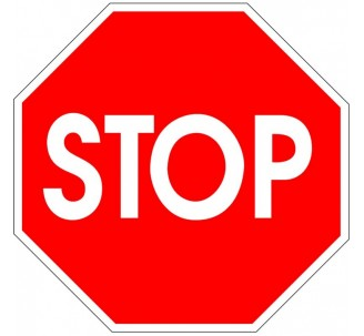 """Kit ou panneau seul type routier """"STOP"""" ref:AB4"""