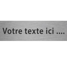 Plaque de porte en alu gravé avec texte personnalisé