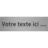 Plaque de porte en alu ou pvc gravé avec texte personnalisé