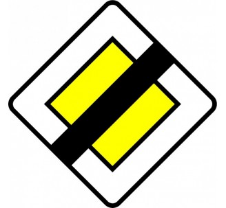 "Kit ou Panneau type routier ""Fin d'axe prioritaire""  ref:AB7"