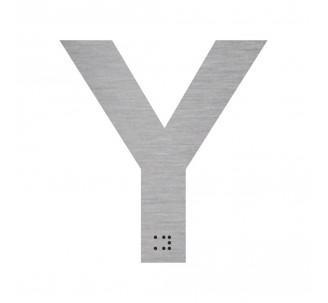 """Lettre """"Y"""" + braille en aluminium découpé"""