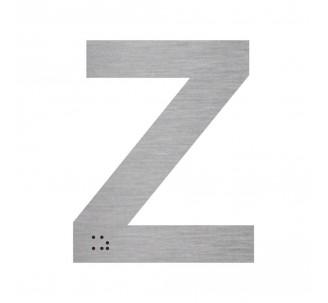 """Lettre """"Z"""" + braille en aluminium découpé"""
