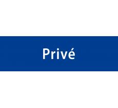 """Plaque de porte alu ou pvc gravé """"privé"""", plusieurs couleurs"""
