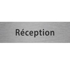 """Plaque de porte en alu gravé """"réception"""""""
