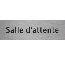 """Plaque de porte en alu ou pvc gravé """"salle d'attente"""""""