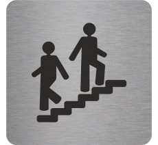 "Pictogramme en alu en relief   ""Escalier"""
