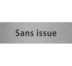 "Plaque de porte en alu ou pvc ""sans issue"" / options"