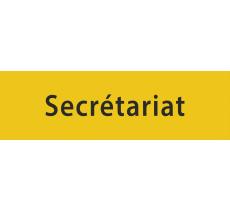"""Plaque de porte """"secrétariat"""", en alu ou pvc"""