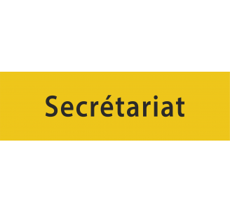 "Plaque de porte en aluminium gravé ""secrétariat"""