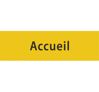 "Plaque porte avec relief ""Accueil"""