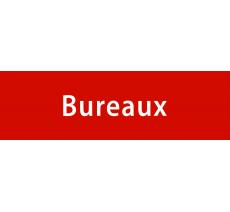 """Plaque porte avec relief """"Bureaux"""""""
