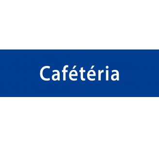 """Plaque porte PVC blanc avec relief """"Cafétéria"""""""