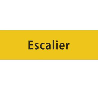 """Plaque porte avec relief """"Escalier"""""""