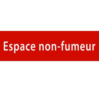 "Plaque porte avec relief ""Espace non fumeur"""