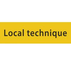 """Plaque porte avec relief """"Local technique"""""""