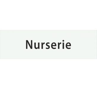 "Plaque porte avec relief ""Nurserie"""