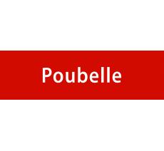 """Plaque porte avec relief """"Poubelle"""""""