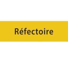 """Plaque porte avec relief """"Réfectoire"""""""