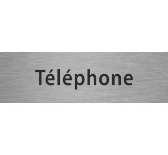 """Plaque porte avec relief """"Téléphone"""""""