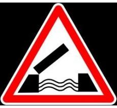 """Kit ou Panneau type routier """"Pont mobile"""" ref:A6"""