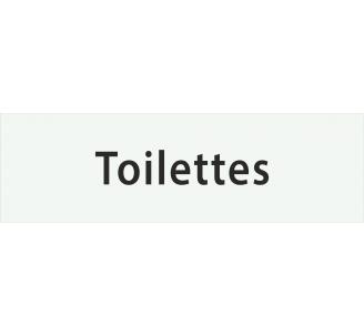 """Plaque porte avec relief """"Toilettes"""""""