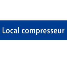 "Plaque porte avec relief ""Local compresseur"""""