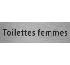 """Plaque de porte""""toilettes femmes"""" en alu ou pvc"""