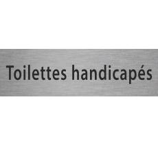 """Plaque de porte en alu ou pvc gravé """"toilettes handicapés"""""""