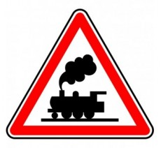 """Kit ou Panneau type routier  """"Passage à niveau sans barrière""""  ref:A8"""