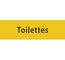 """Plaque porte en alu ou pvc gravé """"toilettes"""", plusieurs coloris au choix"""