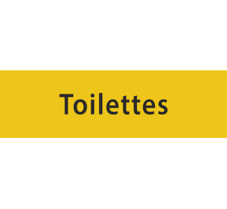 """Plaque porte en alu gravé """"toilettes"""""""