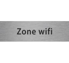 """Plaque de porte en alu ou pvc gravé """"zone wifi"""""""