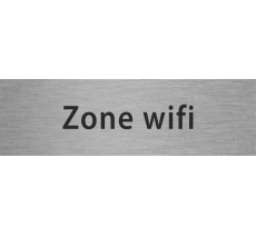 "Plaque ""zone wifi"" en aluminium ou en pvc"