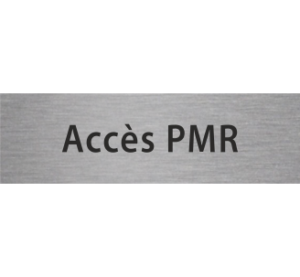 Plaque porte alu gravé accès PMR