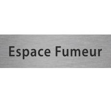 """Plaque de porte alu ou pvc gravé """"espace fumeur"""""""