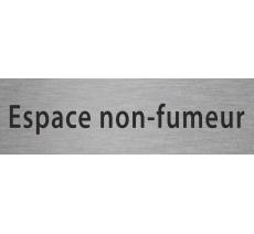 """Plaque porte en alu ou pvc """"espace non fumeur"""", coloris et marquage au choix"""