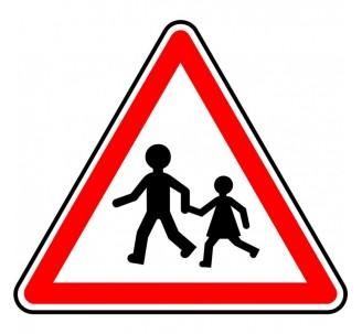 """Kit ou Panneau type routier """"Endroit fréquenté par les enfants"""" ref:A13a"""
