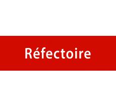 """Plaque de porte en alu ou pvc gravé """"réfectoire"""""""