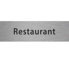 """Plaque de porte en alu ou pvc gravé """"restaurant"""", existe en plusieurs couleurs"""