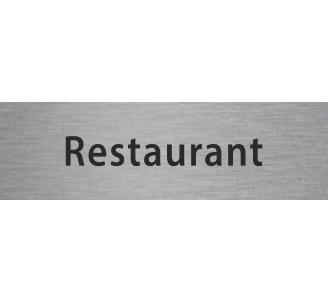 Plaque porte alu gravé restaurant