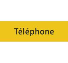 """Plaque de porte en alu ou pvc gravé """"téléphone"""", coloris au choix"""