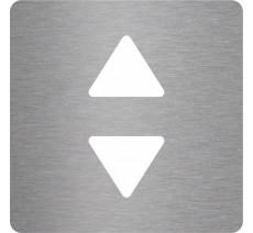 """Pochoir en aluminium ou PVC découpé """"Ascenseur"""", 5 couleurs au choix"""
