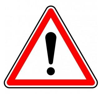 """Kit ou Panneau type routier """"Autres dangers"""" ref:A14"""
