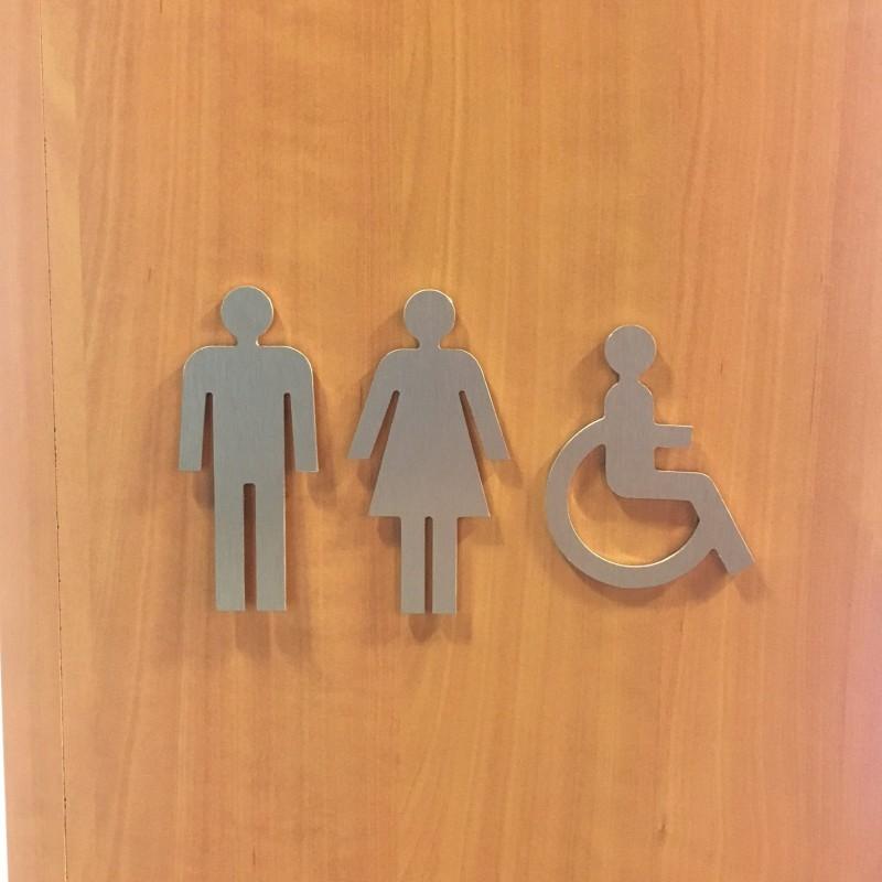 Plaque porte picto handicap en alu ou pvc d coup - Largeur porte handicape ...