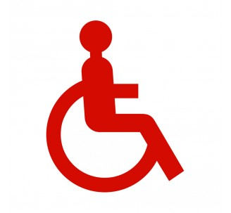 """Plaque de porte picto alu ou pvc découpé """"Handicapé"""""""